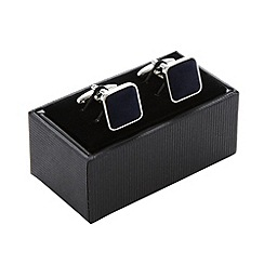 Thomas Nash - Navy velvet square cufflinks