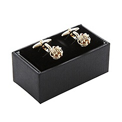 Thomas Nash - Gold knot cufflinks