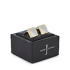 J by Jasper Conran - Gold two tone crystal cufflinks in a gift box