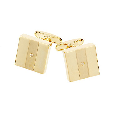 J by Jasper Conran - Designer gold square diamond cufflinks