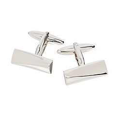 Thomas Nash - Silver asymmetric wedge cufflinks