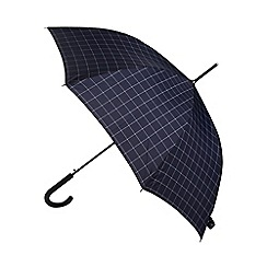 Fulton - Shoreditch window check navy auto open umbrella