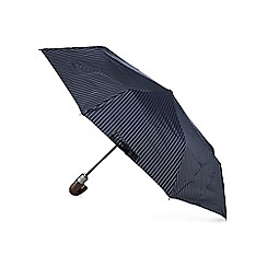 Fulton - Chelsea navy lined hook handle auto open compact umbrella