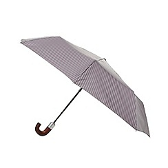 Fulton - Grey lined hook handle auto open compact umbrella