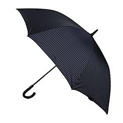 Fulton - Navy striped hook handle umbrella