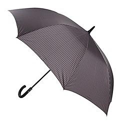 Fulton - Grey striped hook handle umbrella