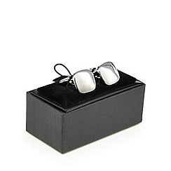 Thomas Nash - Silver rounded square cufflinks