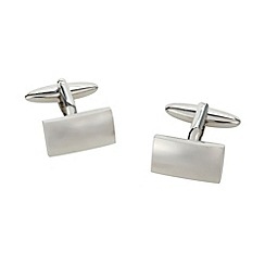 Thomas Nash - Silver rectangle cufflinks