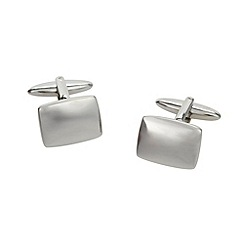 Thomas Nash - Silver rounded rectangle cufflinks