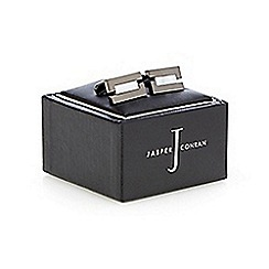 J by Jasper Conran - Gunmetal and mother of pearl cufflinks in a gift box