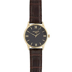 Infinite - Men's brown Roman dial watch