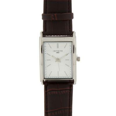 Infinite Men´s brown rectangle dial watch - . -
