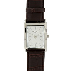 Infinite - Men's brown rectangle dial watch