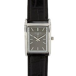 Infinite - Men's black rectangle dial watch