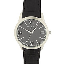 Infinite - Men's black Roman dial watch