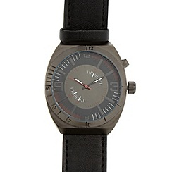 Red Herring - Men's black two crown watch