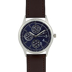 Red Herring - Men's brown oversize mock multi dial watch