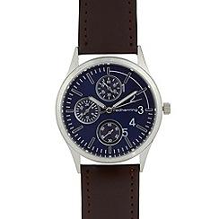 Red Herring - Men's brown oversize mock multi dial watch