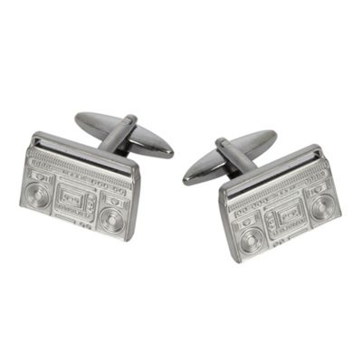 Grey Boom Box cufflinks