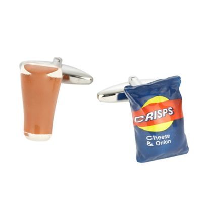 A Pint and A Packet Of Crisps cufflinks