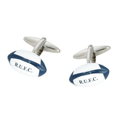 Blue Rugby Ball cufflinks