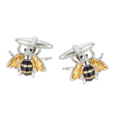 Yellow Wasp cufflinks