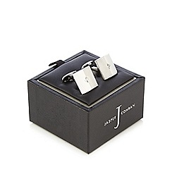 J by Jasper Conran - Silver crystal detail cufflinks in a gift box