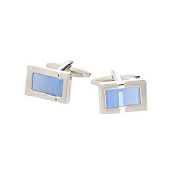 Thomas Nash - Blue shiny curved cufflinks