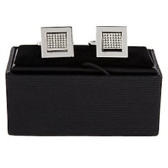 Thomas Nash - Grey crystal square cufflinks