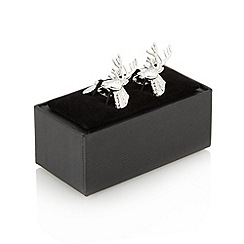 Thomas Nash - Silver stag head cufflinks