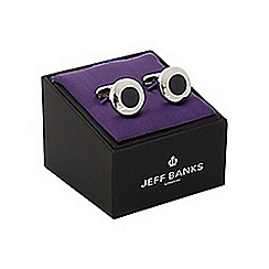 Jeff Banks - Silver round cufflinks in a gift box
