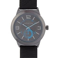 Red Herring - Men's black mock multi dial watch