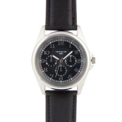 Infinite Men´s black mock multi dial watch