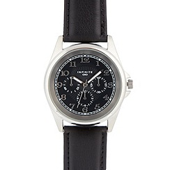 Infinite - Men's black mock multi dial watch