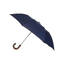 Fulton - Designer navy pinspot crook umbrella
