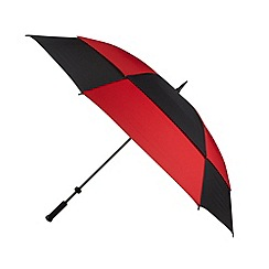 Fulton - Red striped 'Stormshield' umbrella