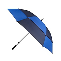 Fulton - Navy striped 'Stormshield' umbrella