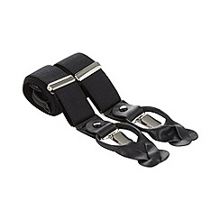 Osborne - Black adjustable button and clip braces
