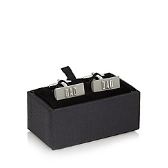 Thomas Nash - Silver 'Dad' twist lock cuff links