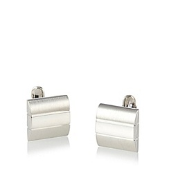 J by Jasper Conran - Designer silver curve mixed finish cufflinks