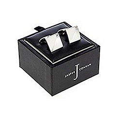 J by Jasper Conran - Designer silver mixed finish crystal cufflinks