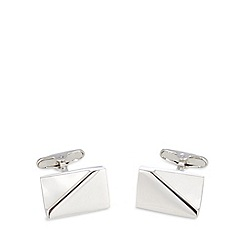 J by Jasper Conran - Designer metal mother of pearl corner cufflinks