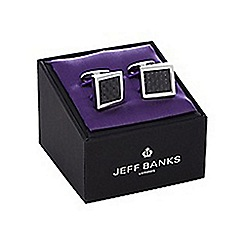 Jeff Banks - Metal checked wedge cufflinks in a gift box