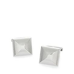 J by Jasper Conran - Designer silver square textured cufflinks