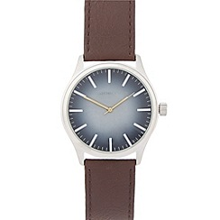 Red Herring - Men's brown analogue buckle watch