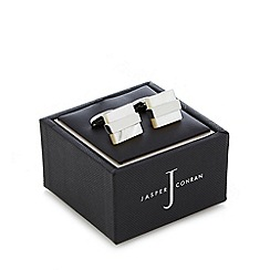 J by Jasper Conran - Designer natural square cufflinks