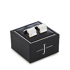 J by Jasper Conran - Designer natural square cufflinks