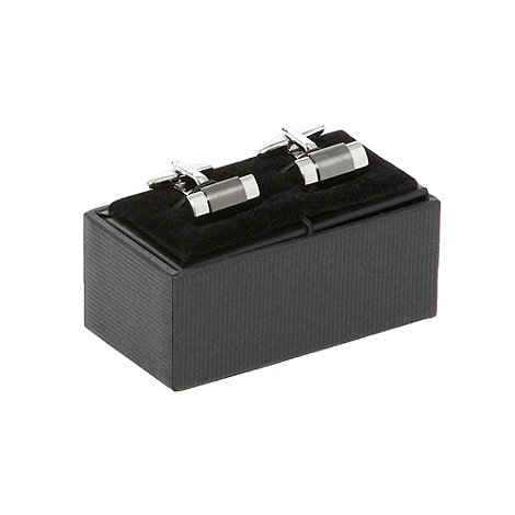 Thomas Nash - Grey gunmetal stripe cufflinks