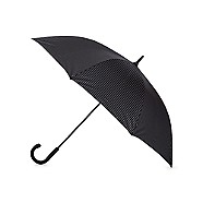 Black large pinstripe umbrella