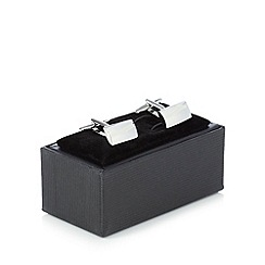The Collection - Silver rounded rectangle cufflinks in a gift box
